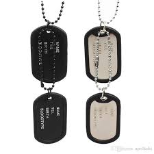 engraved dog tags for men wholesale wholesale 2016 newest dog tags necklaces silver black dog