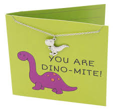 ron dinosaur necklace funny puns happy birthday cards you are