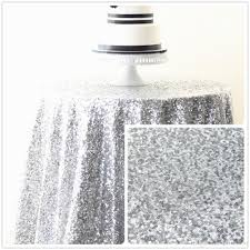 silver sequin table runner 48 inch round silver sequin tablecloth for wedding holiday birthday