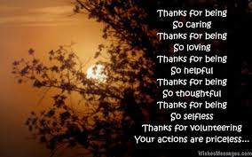 thank you messages for volunteers appreciation quotes