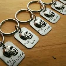 engraved football gifts sted personalized football keychain football team gift