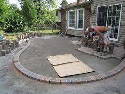 Concrete Patio With Pavers Concrete Patio Pavers Unique Inspiration Ideas Patio Ideas Using