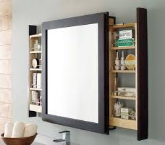 Bathroom Mirrors With Storage Ideas A Clever Bath Mirror With Side Pull Out Shelves That Let Users