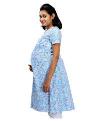 ziva maternity wear buy ziva maternity wear blue cotton tops online at best prices in