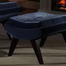 velvet chair and ottoman oxford creek contemporary blue velvet chair ottoman home