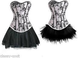 details about cabaret showgirl white burlesque corset u0026 skirt