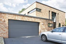 modern house with brick walls and automatic door awesome