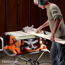 dewalt table saw dust collection portable table saw reviews the family handyman