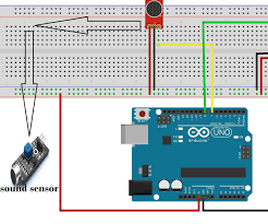 clap to turn off lights to turn on ac light and fan by clap using arduino and sound sensor