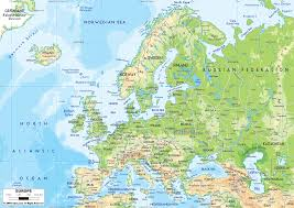 Europe And Russia Map by Physical Features Map Of Europe And Russia Thefreebiedepot