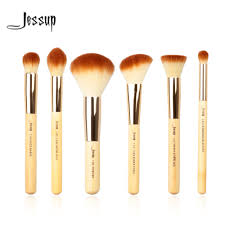 Professional Makeup Tools Jessup Brand 6pcs Beauty Bamboo Professional Makeup Brushes Set