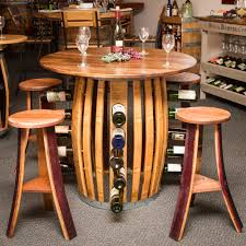 charming wine barrel dining room table including coffee with