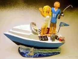 fishing wedding cake toppers wedding cake topper