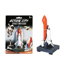 action city space shuttle mission with launcher metal diecast with