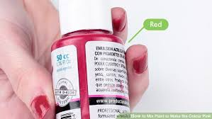 3 ways to blend acrylic paint wikihow how to mix paint to the colour pink 9 steps with pictures