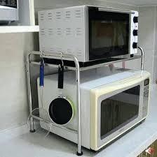 cuisine micro ondes etagere pour micro onde acier inoxydable actagare de la cuisine