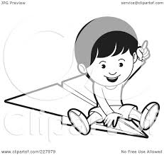 paper airplane coloring page royalty free rf clipart illustration of a coloring page outline of