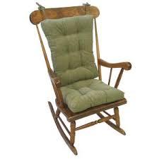 gingham ruffle blue rectangular delightfill rocking chair cushion