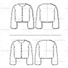long sleeve fur chubby jacket cropped jacket one sketch has a