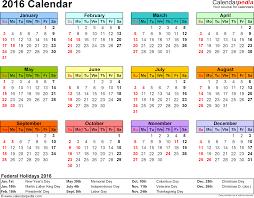 free printable planner 2016 australia 2016 calendar pdf 16 free printable calendar templates