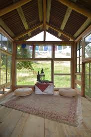 meditation room made with recycled windows
