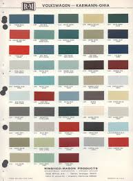 vw paint color samples ideas fjord blue 1959 beetle paint cross
