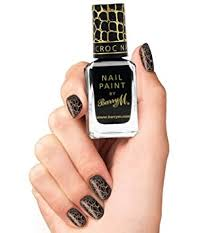 barry m nail paint instant nail effects black croc nail polish