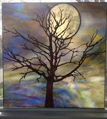 tree and moon by glass by guthrie delphi artist gallery stain