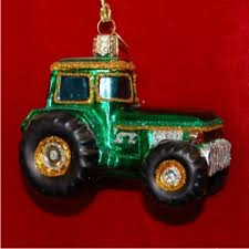 tractor glass ornament glass ornaments personalized by