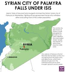 Syria Fighting Map by Syrian City Of Palmyra Falls Under Isis Al Arabiya English