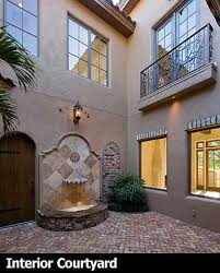 style house plans with interior courtyard plan 83376cl best in courtyard stunner european house
