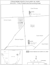 Trinity Florida Map by Federal Register Endangered And Threatened Wildlife And Plants