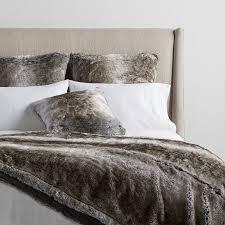 Faux Fur Throw Grey Faux Fur Pillows Blankets And Throws Arhaus