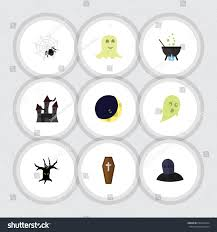 flat icon halloween set terrible halloween stock vector 698410324