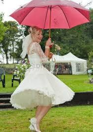 a line 3 4 sleeve bateau appliqued zipper knee length wedding dresses