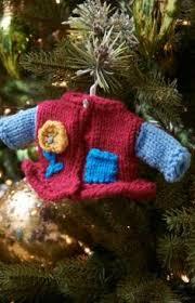 free knit christmas tree ornament patterns knitting pinterest
