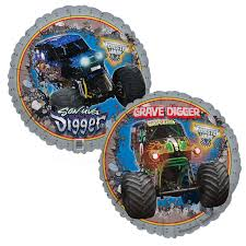 monster truck show memphis monster jam 3d foil balloon birthdayexpress com
