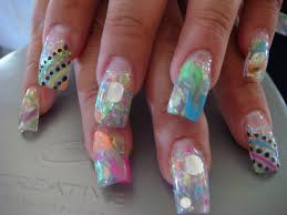 mixed up nails acrylic
