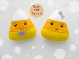 easy pdf pattern felt candy corn ornament halloween ornaments