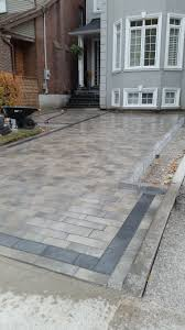 Brock Paver Base Installation by Interlock Design With Black Border Increase The Value Of Your
