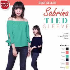 blouse wanita sabrina sleeve atasan blouse wanita murah bl885 asia
