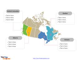 Map Of Canada Cities And Provinces by Free Canada Powerpoint Map Free Powerpoint Templates