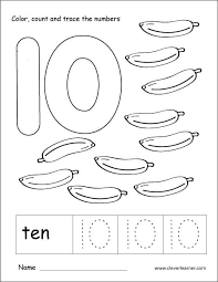Counting By Tens Worksheets For Kindergarten Number Ten Writing Counting And Identification Printable