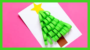 paper strips christmas tree craft christmas craft idea for kids