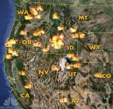 a map of oregon wildfires nw wildfire map shows how bad it really is resource report