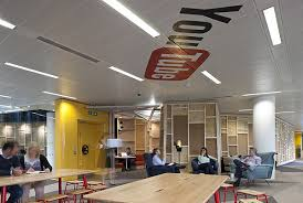 youtube offices striking youtube offices in london designed with a film set look and