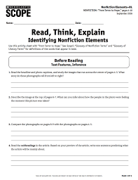 Test Of Genius Worksheet Answers Build Strong Analytical Readers With The Core Skills Workout