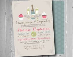 Bridal Shower Ideas by Champagne And Cupcakes Bridal Shower Theme Shower Invitation