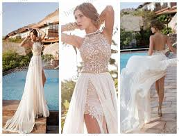 high neck halter wedding dress julie vino 2017 backless wedding dresses halter high neck