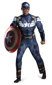 Marvel Halloween Costume Amazon Disguise Men U0027s Marvel Captain America Classic Muscle